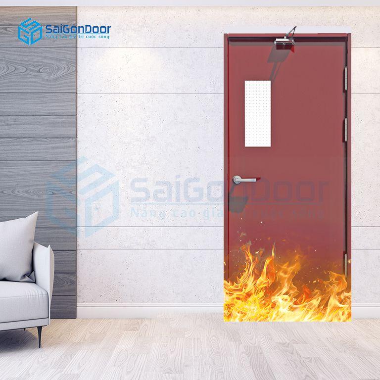 Cửa thép chống cháy P1G1 do bam