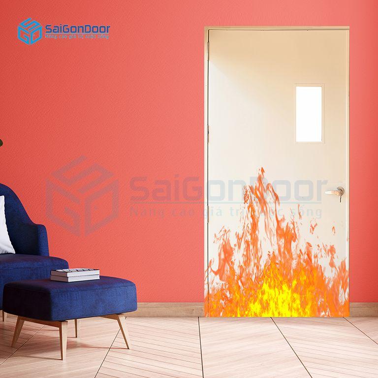 Cửa thép chống cháy có gắn kính chống cháy P1G1 kinh chong chay